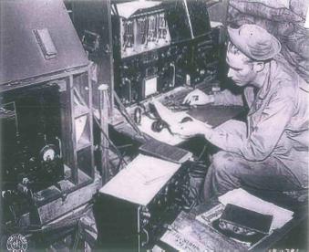 A radioman in WWII