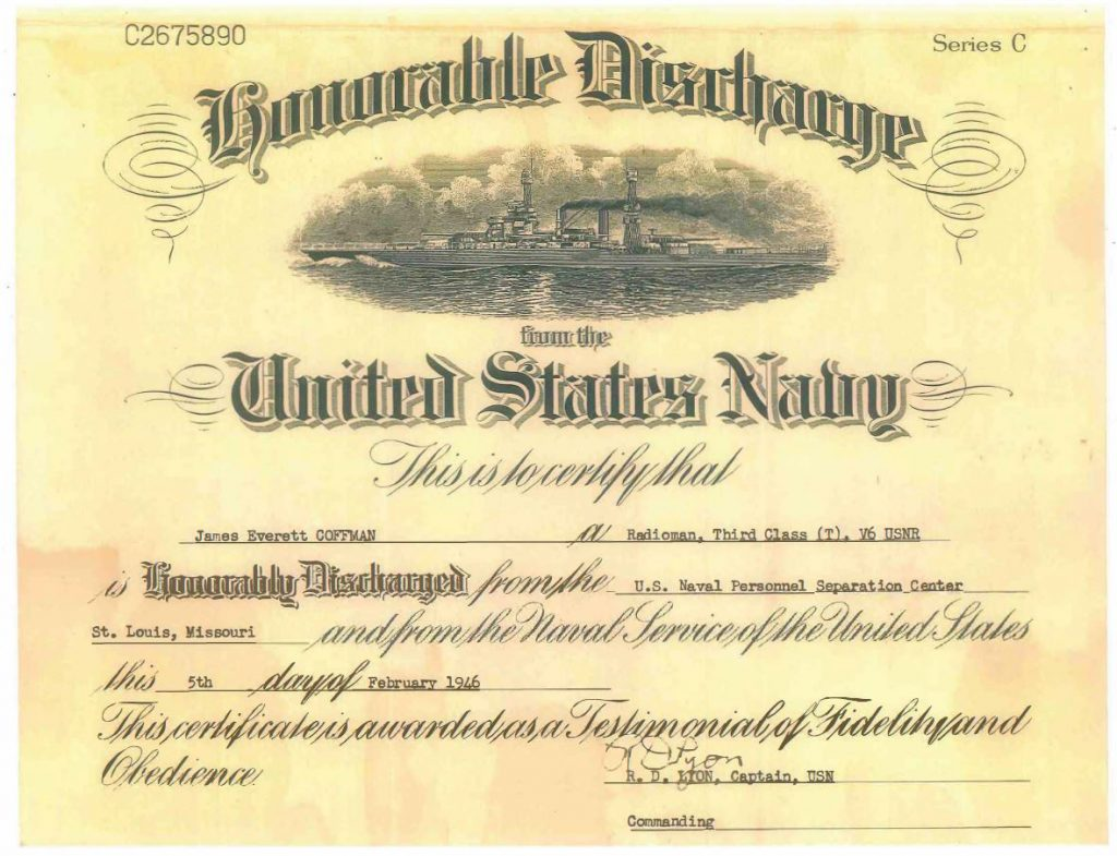 Honorable Discharge Paper